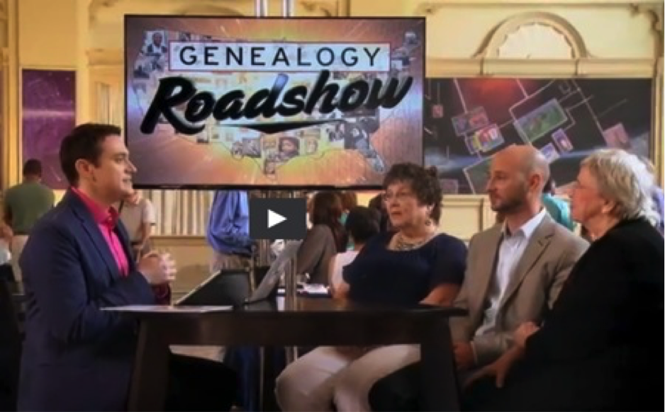 Josh Taylor with Andrew Sentilles and family on the New Orleans Episode of PBS Genealogy Roadshow