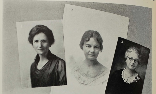 Maggie Smith Hathaway, educator and welfare worker; Alma Margaret Higgins, organizer of women's clubs and civic organizations; and Irene Welch Grissom, writer and entertainer.